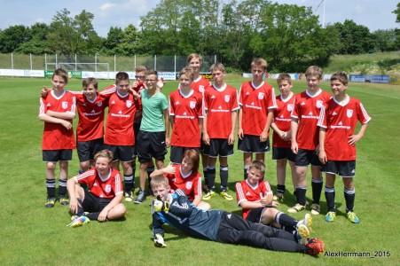 Mannschaftsbild C-Jugend nach Derbysieg