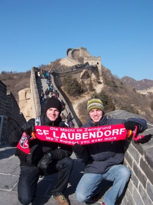 Christian Sieber und Stephan Schmidt an der Chinesischen Mauer (2008)