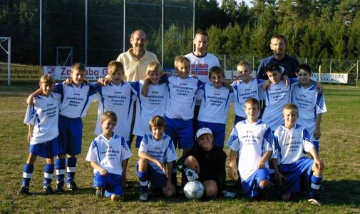 erfolgreiche Jugendmannschaft (Stefan Eichinger, sitzend 2. von links)