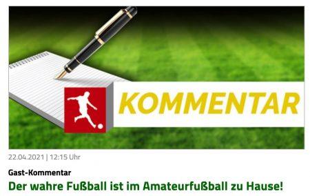 Kommentar von Jan Koerber auf fussballn.de