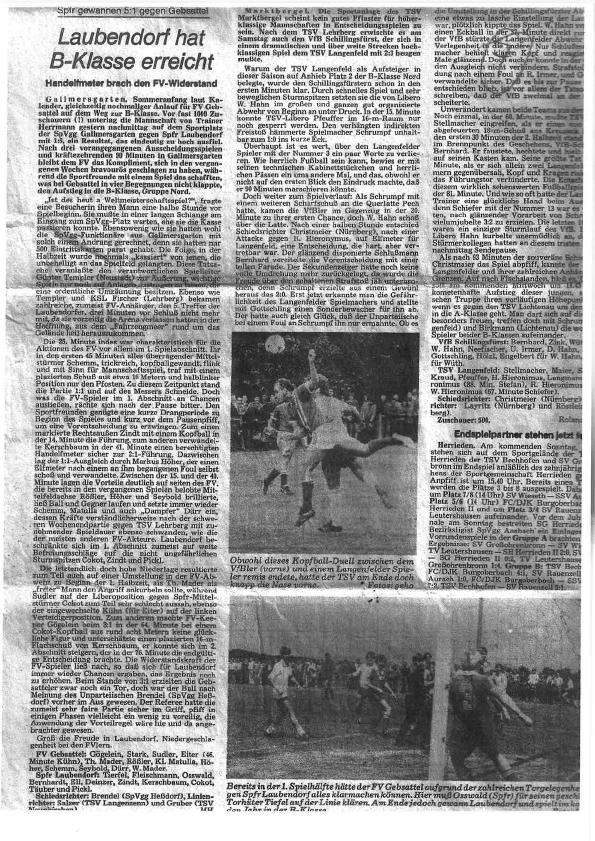 Zeitungsartikel zum Aufstieg