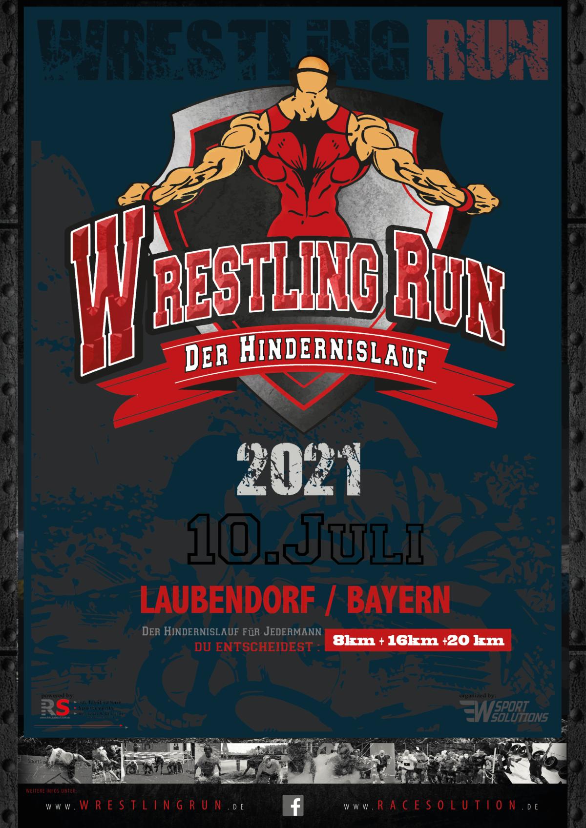 Plakat Wrestling Run 2021
