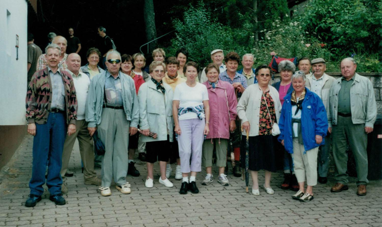 Die Sängerabteilung während ihres Ausflugs zum Naturfreundehaus.