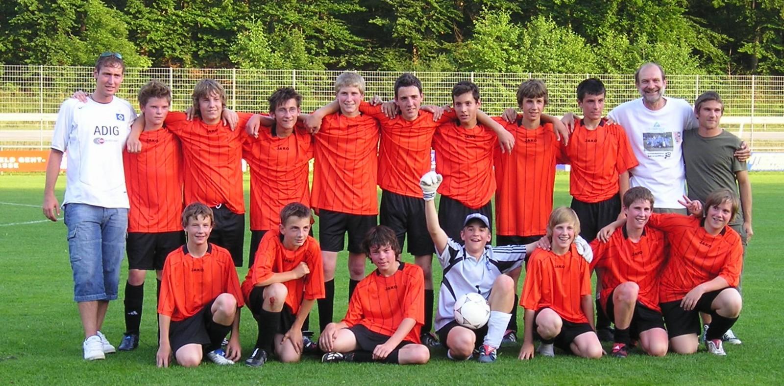 C-Jugend nach dem gewonnenen Aufstiegsspiel