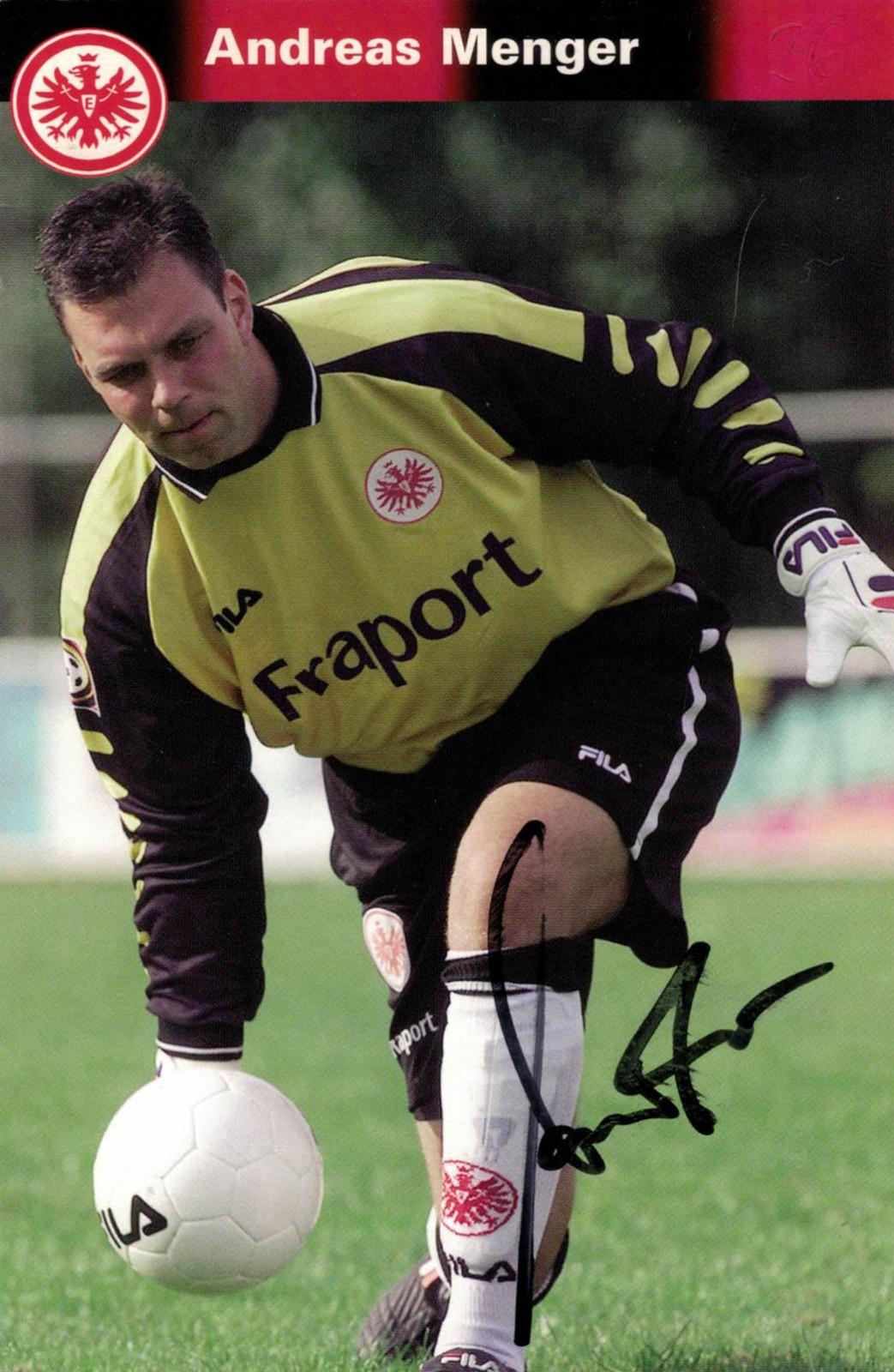 Andreas Menger zu seiner aktiven Zeit in Frankfurt.