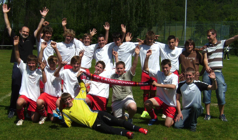 B-Jugend nach dem letzten Spiel der Meistersaison 2006/2007