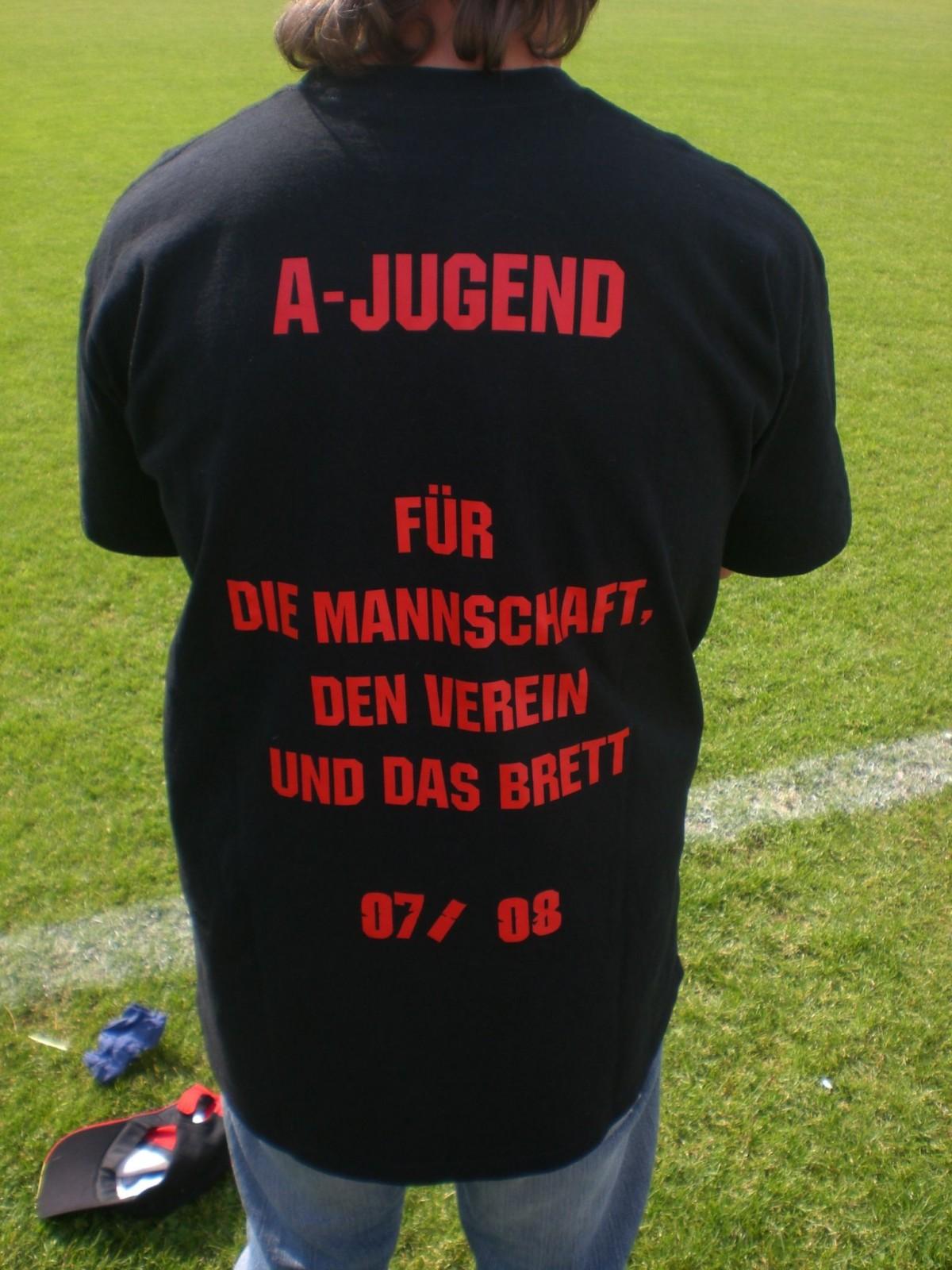 Das Motto der erfolgreichen A-Jugend Saison 2007/2008