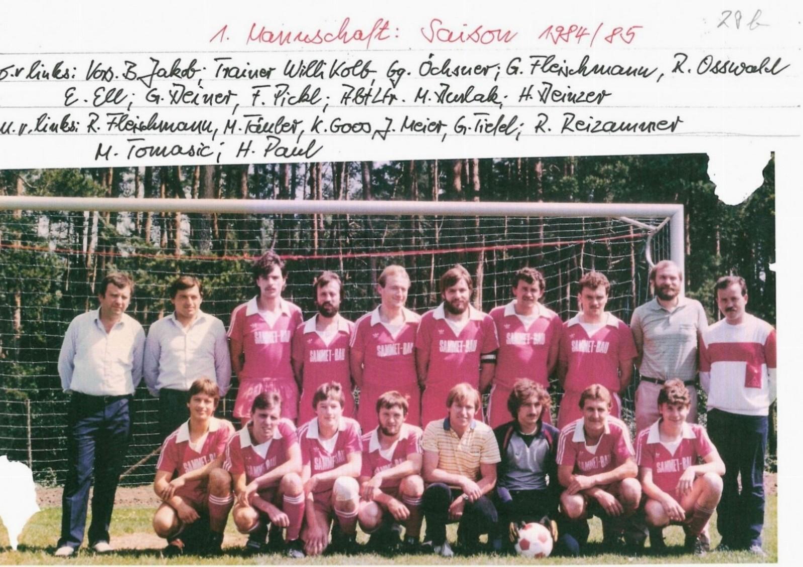 1. Mannschaft 1984/85
