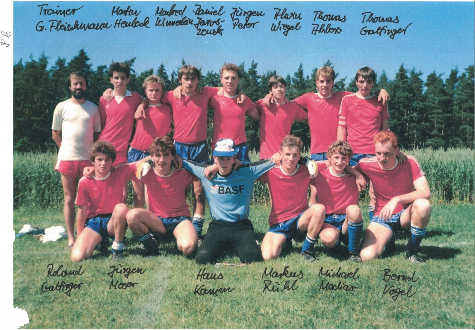 A-Jugend  Saison 86/87
